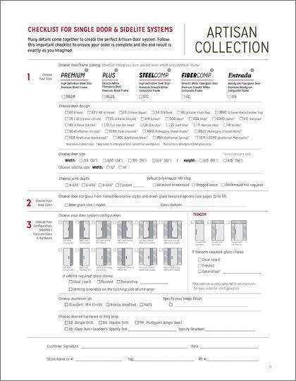 Artisan Order Form