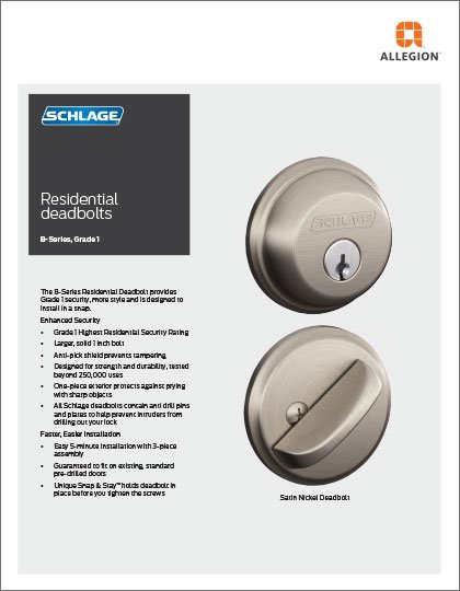 B-Series Residential Deadbolt