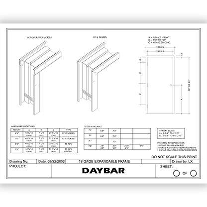 EF/EFK Expandable Drywall Frames