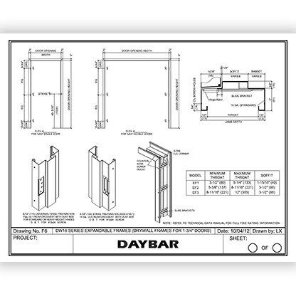 Daybar EF Series Expandable Frames