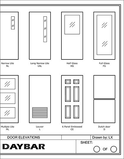 Daybar Door Elevations