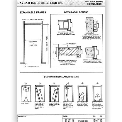 Expandable Frames Installation Details