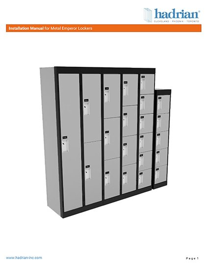 Hadrian Lockers - Installation Instructions