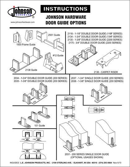 Johnson Hardware Door Guides