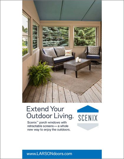 Larson Scenix™ Retractable Screen Windows