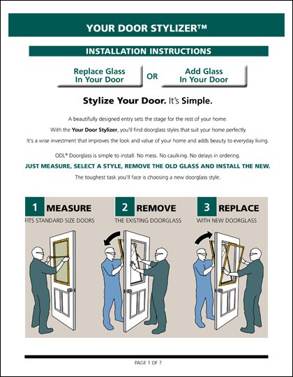 Half Lite Replacement Glass Installation Instructions