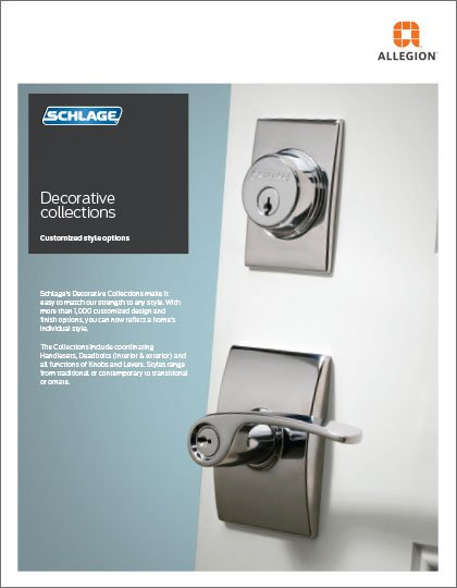 Schlage F-Series Decorative Collections