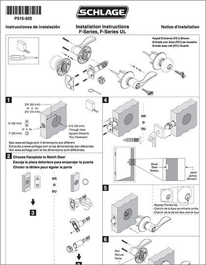 Schlage F-Series Knobs/Levers