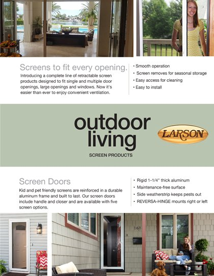Larson Screen Products Selection and Measuring Guide