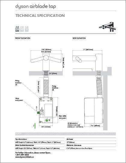 Dyson Airblade Tap (AB09, AB10, AB11)