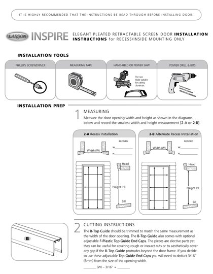 Inspire Installation Instructions