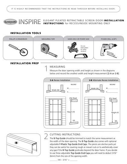Inspire Installation Instructions