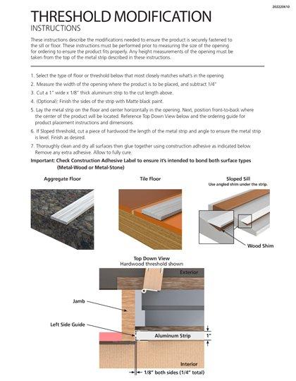 Larson Threshold Modification Instructions